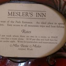 Mesler Inn Rates in 1920's